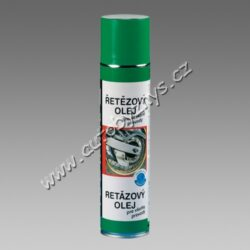 Olej na řetězy 400ml sprej TECTANE-Pro trvalé vnitřní a vnější mazání veškerých druhů převodů, jako je např.: řetězový, ozubený, šnekový apod. Vhodné mazadlo pro kuličková a válečková ložiska, mechanické čepy, klouby atd. Zvyšuje kluznost a prodlužuje životnost materiálů. Odolává teplotám od -40°C do +150°C.
