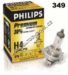Žárovka 12V H4 +30% 60/55W P43t-Philips