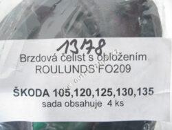 Čelisti brzdové ŠKODA 105/120 FOMAR-sada CZ 4ks 113330141