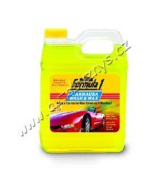 Autošampon + palmový vosk Carnauba Wash & Wax 950ml  Formula1-Autošampon + palmový vosk Carnauba. Koncentrovaný přípravek na odstranění veškerých povrchových nečistot jako zažraný prach, zbytky hmyzu, dehtové skvrny atd. z karoserie. Obsahuje nejkvalitnější přírodní palmový vosk carnauba, který zároveň poskytuje ochranu a navrací lesk autolaku po každém omytí. Přítomná svěží ovocná vůně potěší při práci s šamponem.