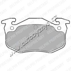 Brzdové destičky zadní Citroen,Peugeot DELPHI-délka (v mm): 105,2 vyska ( v mm ): 54,8 tloustka/sila( v mm): 10 brzdovy system: Bendix