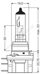 12V H15 55-15W  PGJ23T-1 OSRAM-SLEVA 7%