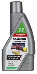 Autošampón s voskem NANO+ 600ml AUTOLAND-Vysoce účinný autošampon s voskem, super koncentrát se zesíleným mycím účinkem. Vyvinuto na bázi technologie NANO+ aniontových a neiontových mycích prostředků nejnovější generace.  Super koncentrát - díky maximální dávce mycích prostředků a vosků - náplň stačí na 16 omytí. Zesílený mycí účinek díky použité receptuře částic koloidního oxidu křemičitého. Účinný při odstraňování starých přischlých nečistot, takových jako jsou ptačí výkaly, stopy po hmyzu atd. Široký rozsah použitých mycích prostředků činí, že je stejně účinný na každém druhu povrchu. Umožňuje nejen důkladné umytí karoserie, ale i dílů z umělých hmot. Díky obsahu obohacených vosků umožňuje karoserii získat původní barevnou hloubku a lesk. Obsahuje UV FILTER -zabraňuje blednutí v důsledku slunečního záření.  NANO+ je vysoce pokročilá technologie aplikace nanočástic křemíku a stříbra. Technologie vyvinutá v kooperaci s BRENNTAG. Nanočástice působí na molekulární úrovni a pronikají hluboko do struktury čištěných součástí. Vytvářejí na podkladu neviditelný třívrstvý povlak. Technologie NANO+ umožňuje dosažení zmnohonásobeného jevu odpuzování částic vody, prachu a veškerých nečistot. Vzniká efekt lotosového květu, jehož výsledkem je samočištění. NANO+ je technologie příznivá pro alergiky. Má fungicidní a dezodorační účinky. Aktivita iontů stříbra zabíjí škodlivé bakterie.