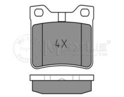 Brzdové destičky zadní Peugeot 605 MEYLE-omezení výrobce: ATE uzaviraci vystrazny kontakt: vcetne uzaviraciho vystrazneho kontaktu vyska ( v mm ): 57,4 délka (v mm): 63, tloustka/sila( v mm): 16,7