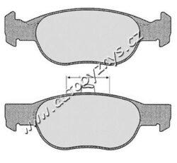 Brzdové destičky přední Fiat/Lancia MAFF-montovací strana: přední osa zkusebni znacka: E1 vyska ( v mm ): 52 brzdovy system: ATE TEVES tloustka/sila( v mm): 18 Sirka v mm: 151,4