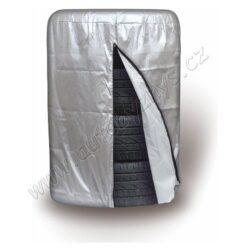 Obal na pneumatiky 66x96cm-Obal na 4 pneumatiky, na zip uzavíratelný. Velikost 66 x 96 cm, vhodné pro 13 - 16 pneumatiky vnějšího průměru do 66 cm a šířky pneu do 240 mm. Ideální pro ochranu uskladněných pneumatik. Materiál polyester.