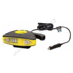 Ventilátor s ohřevem FROST 3in1 12V-Ventilátor s možností ohřevu, se zabudovaným LED světlem a výklopnou rukojetí. Ideální do chladného zimního počasí.  Napájení 12V ze zásuvky automobilového zapalovače. Ventilátor lze umístit na přiložený odnímatelný držák se širokou škálou nastavení úhlu, nebo s ním pomocí výklopné rukojeti nahřívat libovolná místa. Kabel ventilátoru je vybaven pojistkou 15A. technická data napájení: 12V= příkon: cca 158 W max. doba běhu: 15 min. osazená pojistka: 15 A LED světlo: 2x super bright LED