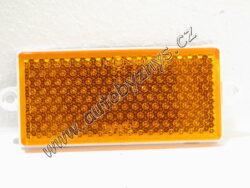 Odrazka oranžová obdélník 50x110 samolepící