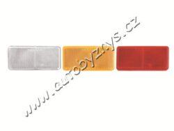 Odrazka červená obdélník 40x90 samolepící-Odrazka hranatá, obdelník samolepící červená 40x90mm
