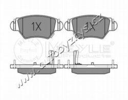 Brzdové destičky zadní Opel Astra G,Zafira A Meyle-Sirka v mm: 104,7 vyska ( v mm ): 42,5 tloustka/sila( v mm): 16,9 uzaviraci vystrazny kontakt: s akustickou vystrahou opotrebeni brzdovy system: Bosch