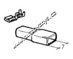 Návlek izolační na objímku 6,3mm bilý