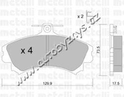 Brzdové destičky přední ABS Mitsubishi,Volvo-brzdovy system: Lucas - Girling Sirka v mm: 129,9 vyska ( v mm ): 73,5 tloustka/sila( v mm): 15,5 uzaviraci vystrazny kontakt: s akustickou vystrahou opotrebeni