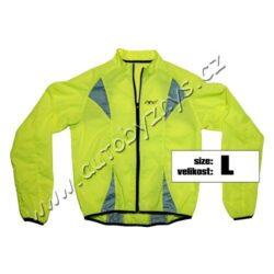 Bunda L reflexní žlutá S.O.R.-Výstražná reflexní bunda vhodná pro různé účely. Reflexní prvky na přední i zadní straně. Zapínání na zip, zadní strana bundy z prodyšného síťového materiálu.Reflexní bunda je vhodná i pro sportovní účely - jízda na kole, běh atp.