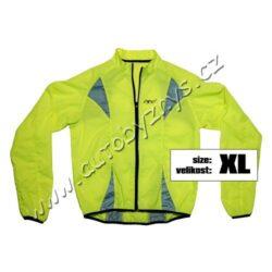 Bunda XL reflexní žlutá S.O.R.-Výstražná reflexní bunda vhodná pro různé účely. Reflexní prvky na přední i zadní straně. Zapínání na zip, zadní strana bundy z prodyšného síťového materiálu.Reflexní bunda je vhodná i pro sportovní účely - jízda na kole, běh atp.