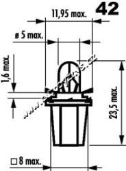 Žárovka 24V 1,2W B 8,5d NARVA