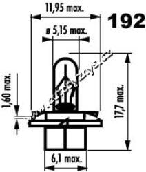 Žárovka 12V 1,2W BX8,4d NARVA