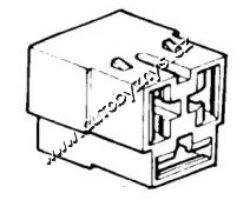 Obal objímky s jazýčkem 6,3mm-3 póly