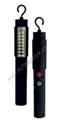 Lampa montážní LUCAS nabíjecí 18xLED 12/220V-- 18 vysokosvítivých LED diod - 12V nebo 220V napájení - otočný háček + magnetický držák - provozní doba = 4h, doba nabíjení = 4,5-5h - možnost nabíjení mobilního telefonu 5V 1A výstup