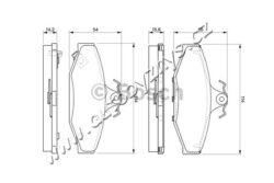 Brzdové destičky zadní Daewoo,Ssangyong (114x55mm) BOSCH-uzaviraci vystrazny kontakt: s akustickou vystrahou opotrebeni Doplnkovy vyrobek/ doplnkove info 2: s krycim plechem tloustka/sila( v mm): 15,1 Sirka v mm: 114 vyska ( v mm ): 55 brzdovy system: Lucas-Girling