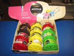 Osvěžovač Aroma Ogranic Mix-Plechovka s regulavaným prostupem vzduchu. Vůně: Lemon, Vanilla, Black, Fresh Cherry.