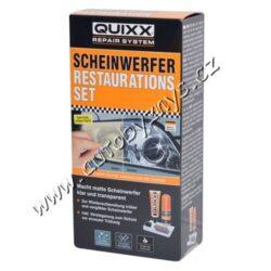 Sada na renovaci světlometů QUIXX-Obnoví zažloutlé a mlhavé světlomety do původního křišťálově jasného stavu bez škrábanců. Tato sada obsahuje vše potřebné pro dosažené profesionálního výsledku, umožní Vám opravit povrch plastového světlometu za zlomek ceny při jejich výměně. Dokáže obnovit až 95 % z původní jasnosti a výkonu světlometu, tedy klíčový bezpečnostní prvek vozidla.