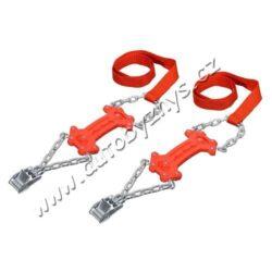 Vyprošťovací pásy K2 univerzální 2ks COMPASS 01455-Univerzální vyprošťovací pásy proti sněhu a ledu, sada 2 ks na hnací nápravu.  Jsou ideální pro nouzové vyproštění vozidla při sněhu, náledí nebo na blátě. Jsou vhodné pro všechny běžné rozměry pneumatik, a lze je použít jak na ocelové, tak i na ALU disky kol.