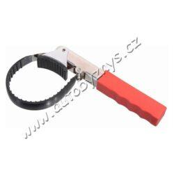 Klíč na olejový filtr PROFI-Univerzální klíč pro montáž a demontáž olejových filtrů. Díky nastavitelné planžetě je možné klíč použít pro filtry až do průměru 135 mm.  Robustní celokovová konstrukce a povrchová úprava na upínací planžetě vytvářejí výtečný záběr při uvolňování nebo utahování olejového filtru.