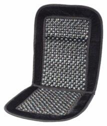 Potah sedadla kuličkový s lemem černý 93x44cm-Vzdušný masážní potah na sedadlo automobilu, univerzální upevnění na většinu běžně používaných sedadel.  Potah s pevným lemem, výplň z dřevěných kuliček, které příjemně masírují tělo, podporují krevní oběh, pomáhají snižovat únavu i bolestivost zad a umožňují proudění vzduchu mezi sedadlem a zády řidiče.  Pokud potah na sedadlo pouze položíte (bez připevnění na opěradlovou část sedadla), je možné potah použít i na sedadla se zabudovaným bočním airbagem přímo v opěradle.  Velikost potahu: 93 x 44 cm.