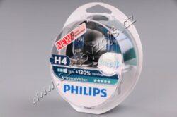 12V H4 60/55W P43t X-treme Vision 2ks box PHILIPS o 130% více světla