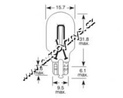 Bulb 12V 16W 2,1x9,5d GE