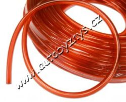 Hadice palivová 8/12mm PVC průhledná-Průhledná palivová PVC hadice pro přepravu benzínu,oleje,technických kapalin