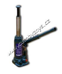 Hever 3t 194-312/118mm hydraulický panenka TÜV GS-Hydraulický zvedák. Tepelně zpracovaný stavitelný šroub umožňuje jemné nastavení výšky a maximální zdvih. Dvojitý bezpečnostní přepouštěcí ventil. Vroubkované, tepelně zpracované sedlo poskytuje velkou opěrnou plochu a bezpečné podepření. Široká robustní základna zajišťuje stabilitu a odolnost. Všechny silně namáhané body jsou zesílené pro zvýšení odolnosti a životnosti. Nosnost 3 t. Min. výška 194 mm, max. výška 312 + 60 mm. Hmotnost 3,6 kg.