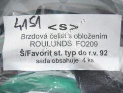 Čelisti brzdové Favorit -12/92 FOMAR-sada 4ks ; 115330149