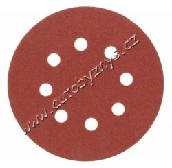 Brusný papír 125 mm P80 s otvory 5 ks suchý zip