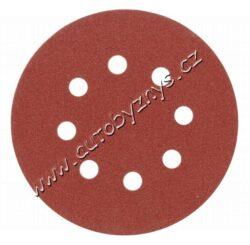 Brusný papír 125 mm P40 s otvory 5 ks suchý zip