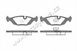 Brzdové destičky zadní REMSA 0155.00-BMW-montovací strana zadní náprava tloustka/sila( v mm) 16,4 délka (v mm) 125,2 vyska ( v mm ) 37,7 brzdovy system Ate-Teves