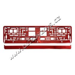 Podložka pod SPZ RED metallic