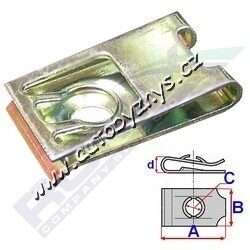 Matice plechová krytu motoru OCTAVIA B4,8x19x16 ROMIX ; N0154581-AUDI N0154581 SEAT N0154581 ŠKODA N0154581 VW N0154581