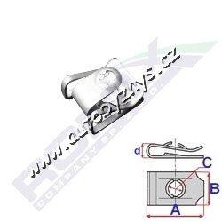 Matice plechová 23,1x19x4,6 Audi,BMW,Mini ROMIX C60630-AUDI 8K0805922A BMW 7146981767 MINI 7146981767