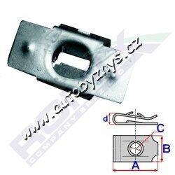 Matice plechová Citroen,Peugeot ROMIX C30719-CITROEN 703018 PEUGEOT 703018