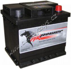 Autobaterie 12V/45Ah 400A AK power-TYP BATERIE: Bezúdržbová baterie   TECHNICÉ SPECIFIKACE  AK POWER AK54559  napeti [V]: 12 kapacita baterie v Ah: 45 test za studena dle EN (v A): 400 razeni polu: 0, (+) pravá druh zásuvky: 1 způsob upevnění, spodní provedení: B13 délka (v mm): 207 Sirka v mm: 175 vyska ( v mm ): 190