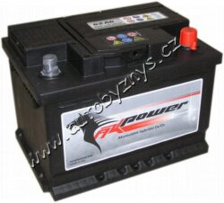 Autobaterie 12V/56Ah 480A AK power-TYP BATERIE: Bezúdržbová baterie   TECHNICÉ SPECIFIKACE  AK POWER AK 556 59 napeti [V]: 12 kapacita baterie v Ah: 56 test za studena dle EN (v A): 480 razeni polu: 0, (+) pravá druh zásuvky: 1 Spodní provedení: B13 délka (v mm): 242 Sirka v mm: 175 vyska ( v mm ): 190