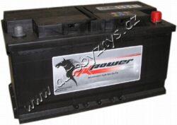 Autobaterie 12V/100Ah 800A AK power- TYP BATERIE: Bezúdržbová baterie    TECHNICÉ SPECIFIKACE  napeti [V]: 12 kapacita baterie v Ah: 100 startovací proud, test za studena dle EN (v A): 800 razeni polu: 0 , (+) pravá druh zásuvky: 1 způsob upevnění, lišta upevnění: B13 délka (v mm): 353 Sirka v mm: 175 vyska ( v mm ): 190