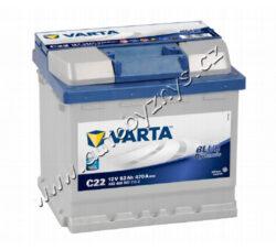 Autobaterie 12V/52Ah 470A VARTA Blue dynamic-TYP BATERIE: Bezúdržbová baterie   TECHNICÉ SPECIFIKACE  VARTA 5524000473132 napeti [V]: 12 kapacita baterie v Ah: 52 startovací proud, test za studena dle EN (v A): 470 razeni polu: 0 druh zásuvky: 1 způsob upevnění, spodní provedení: B13 délka (v mm): 207 Sirka v mm: 175 vyska ( v mm ): 190
