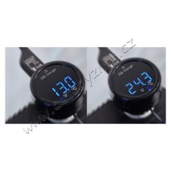 Zástrčka MULTI - USB, voltmetr, teploměr(07427)