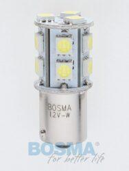 12V Ba15s LED žárovka 13xLED SMD 5050 bílá BOSMA blistr 2ks