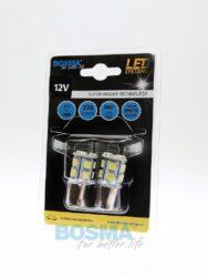 12V Ba15s LED žárovka 13xLED SMD 5050 bílá BOSMA blistr 2ks(LED3055)