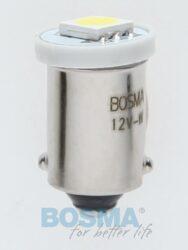 12V Ba9s LED žárovka 1xLED SMD 5050 bílá BOSMA blistr 2ks
