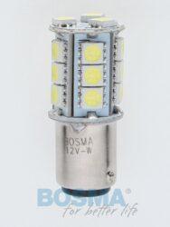 12V BAY15d LED žárovka 18xLED SMD 5050 bílá BOSMA blistr 2ks