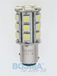 12V BAY15d LED žárovka 24xLED SMD 5050 bílá BOSMA blistr 2ks